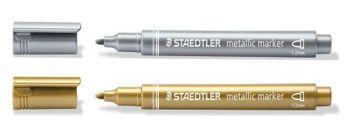 Staedtler Metallic Marker Gold & Silver PK2