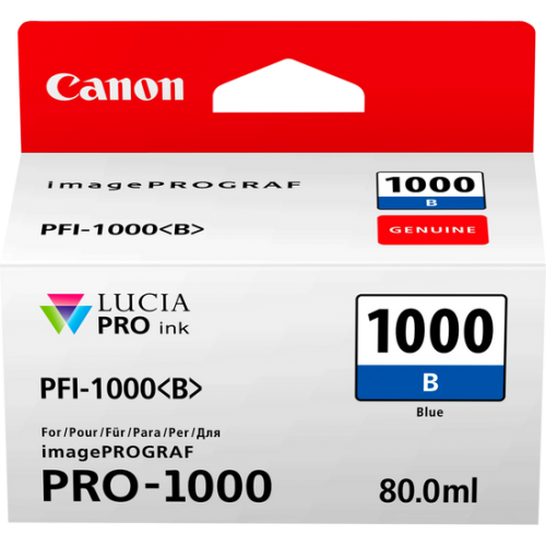 Canon 0555C001 PFI1000 Blue Ink 80ml
