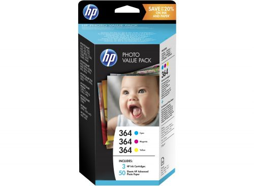 HP 364 Photo Value Pack 3x 3.5ml - T9D88EE
