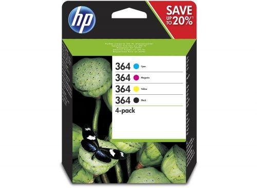 HP N9J73AE 364 Black and Colour Ink 6ml 3x 3ml Multipack