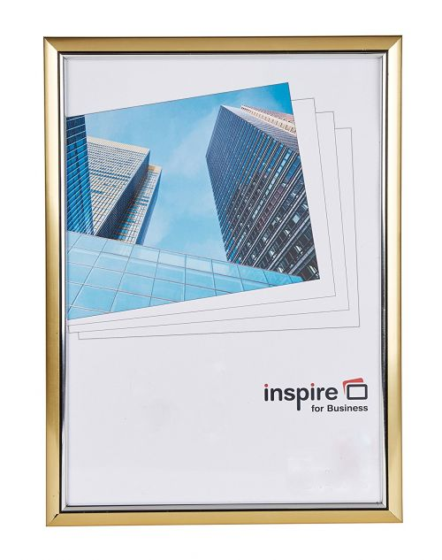 Photo Album Co Inspire For Business Certificate/Photo Frame A4 Plastic Frame Plastic Front Gold