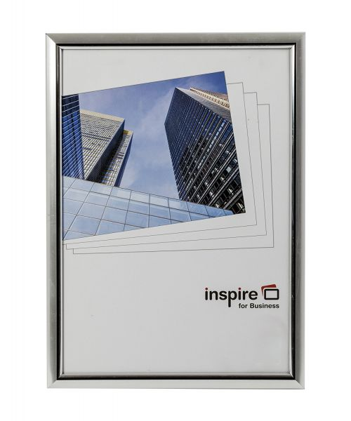 Photo Album Co Inspire For Business Certificate/Photo Frame A4 Plastic Frame Plastic Front Silver
