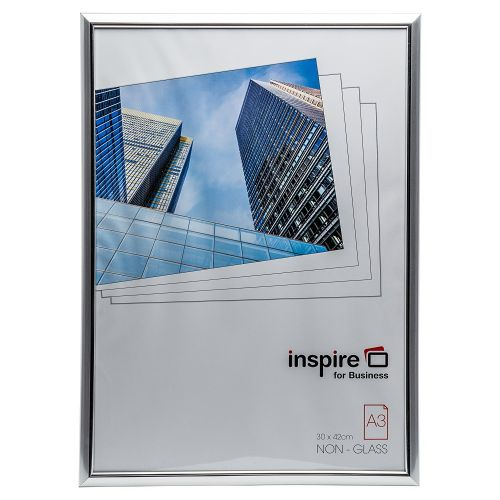 Photo Album Co Inspire For Business Certificate/Photo Frame A3 Plastic Frame Plastic Front Silver