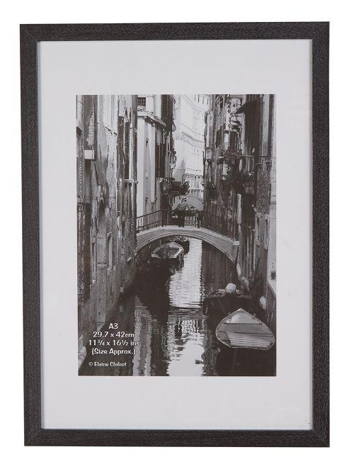 Photo Album Co Certificate/Photo Frame A3 Paperwrap Wood Frame Plastic Front Dark Grey