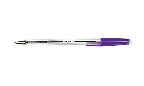 ValueX Ballpoint Pen 1.0mm Tip 0.7mm Line Violet (Pack 50)