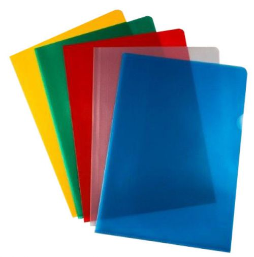 ValueX Cut Flush Folder A4 Assorted Colours 120 Micron (Pack 50)