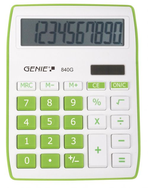 Genie 840G Green Calculator