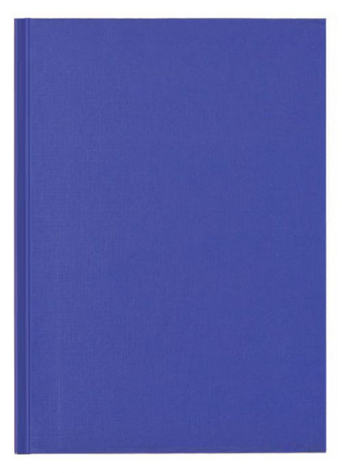 Nuco A4 Casebound Hard Cover Manuscript Notebook Ruled 192 Pages Blue