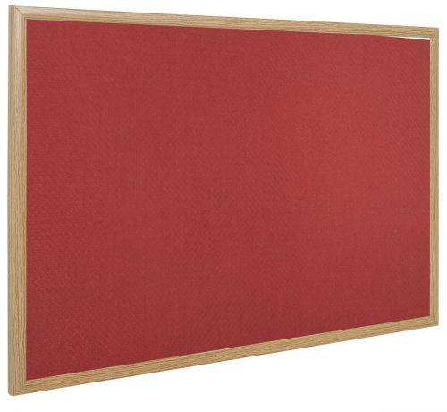 Bi-Office Earth-It Exec Red Felt Ntcbrd Oak Frme 120x90cm