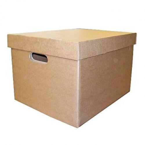 ValueX Archive/Storage Box & Lid 405x337x285mm Brown (Pack 10)