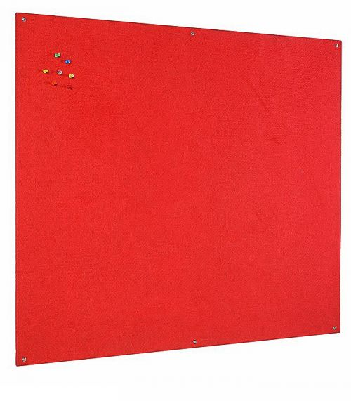 Bi-Office Unframed Red Felt Notice Board 120x90cm