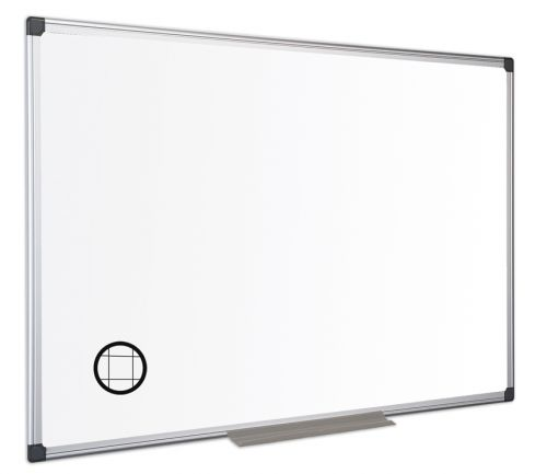 Langstane Magnetic Steel GRIDDED Drywipe Board (with pen tray) 900x600mm White MA0347170