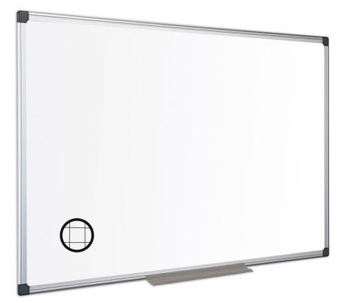 Bi-Office Maya Gridded Mgntc Alu Frame WTboard 240x120cm