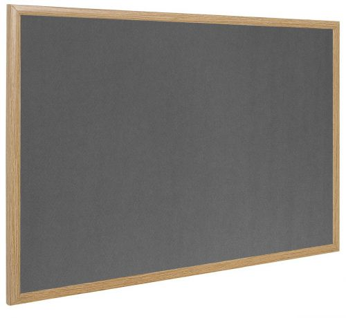 Bi-Office Earth-It Grey Felt Ntcbrd Oak Frame 120x90cm