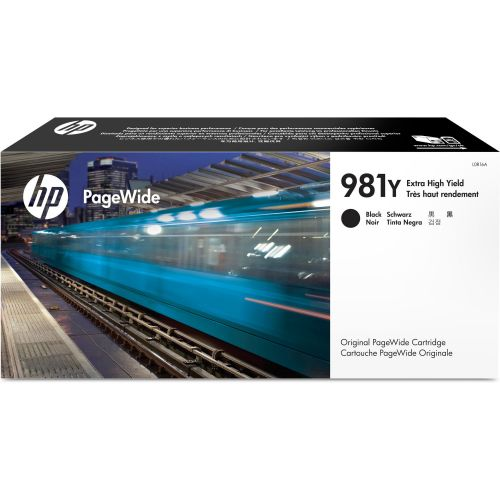 HP 981Y Black High Yield Ink Cartridge 345ml for HP PageWide Enterprise Color 556/586 - L0R16A
