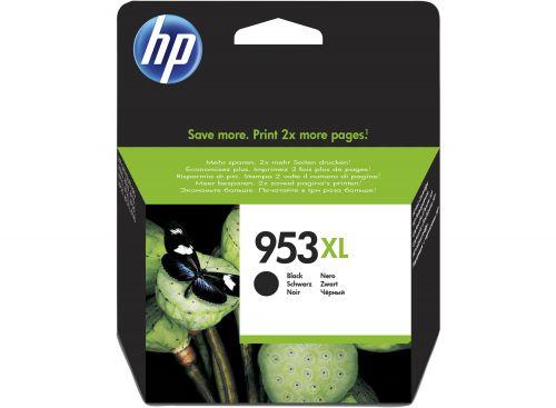 HP 953XL Black High Yield Ink Cartridge 43ml for HP OfficeJet Pro 8210/8710/8720/8730/8740 - L0S70AE