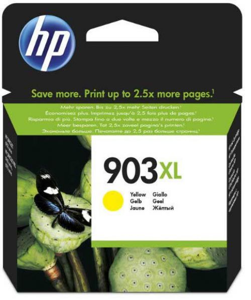 HP 903XL Yellow High Yield Ink Cartridge 10ml for HP OfficeJet 6950/6960/6970 AiO - T6M11AE