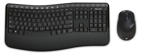 Microsoft Wireless Comfort 5050 Desktop Keyboard and Mouse Set Black PP4-00006 by Microsoft, MSF00016