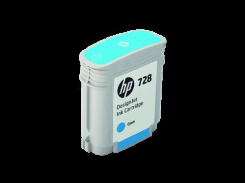 HP F9J63A 728 CYAN INK CARTRIDGE 40ML