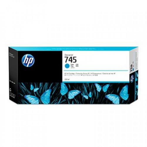 HP 745 Cyan Standard Capacity Ink Cartridge 300ml - F9K03A
