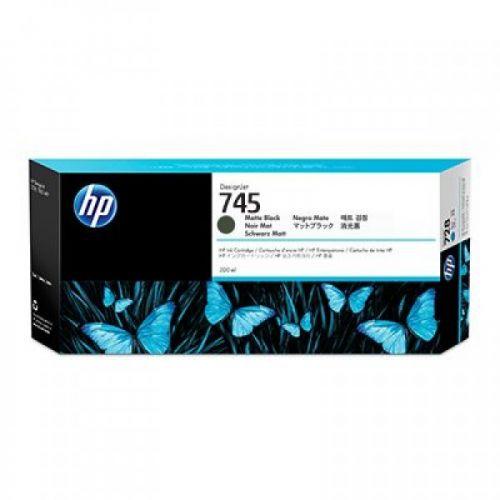 HP 745 Matte Black Standard Capacity Ink Cartridge 300ml - F9K05A