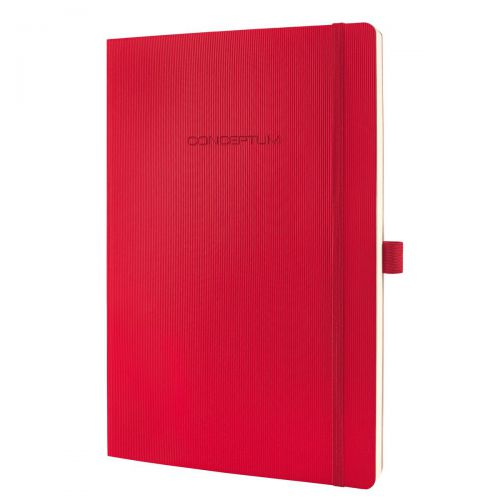Sigel CONCEPTUM A4 Casebound Soft Cover Notebook Ruled 194 Pages Red