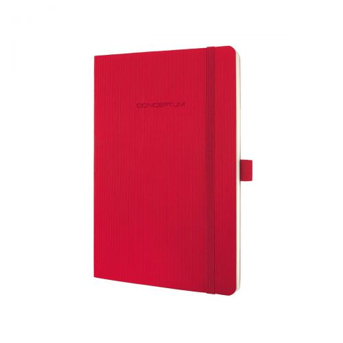 Sigel CONCEPTUM A5 Casebound Soft Cover Notebook Ruled 194 Pages Red