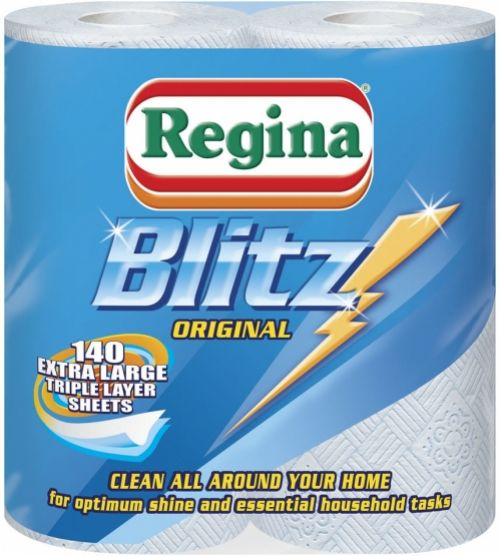 Regina Blitz 3 Ply Kitchen Roll (Pack 3 For The Price Of 2) 1105180
