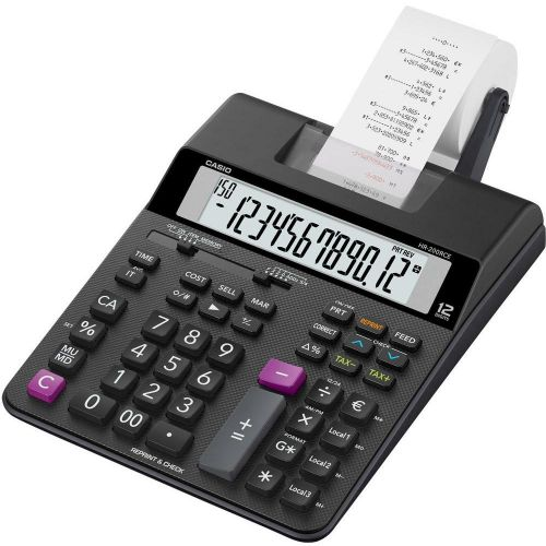 Casio HR-200RCE Printing Desktop Calculator Black