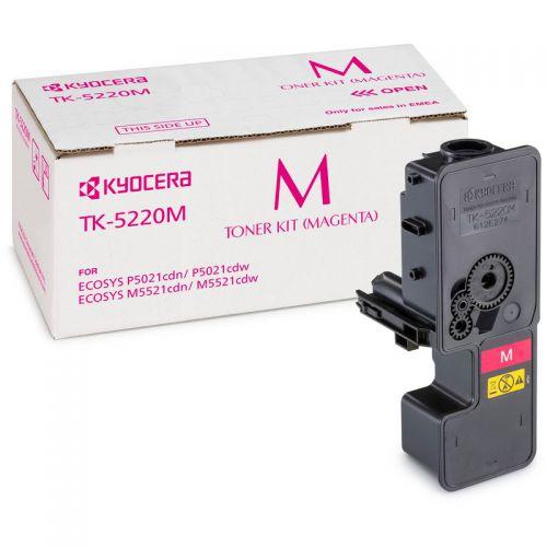 Kyocera 1T02R9BNL1 TK5220M Magenta Toner 1.2K
