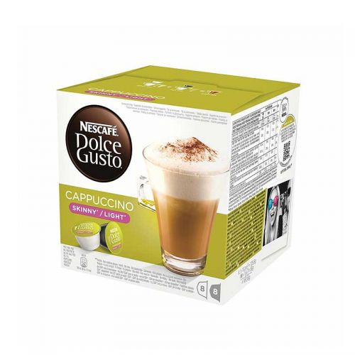 Nescafe Dolce Gusto Skinny Cappuccion Coffee 12051233 Packed 48 (3 x 16 = 24 Drinks)