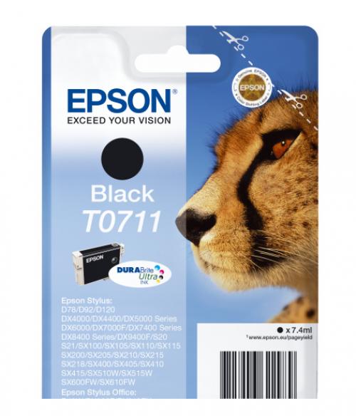 Epson C13T07114012 T0711 Black Ink 7ml