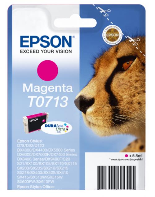 Epson C13T07134012 T0713 Magenta Ink 6ml