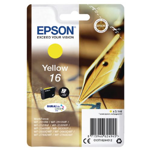 Epson C13T16244012 16 Yellow Ink 3ml