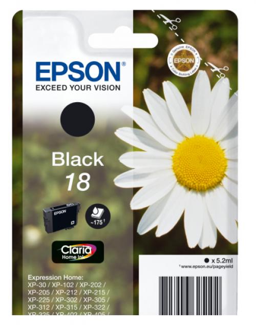 Epson C13T18014012 18 Black Ink 5ml