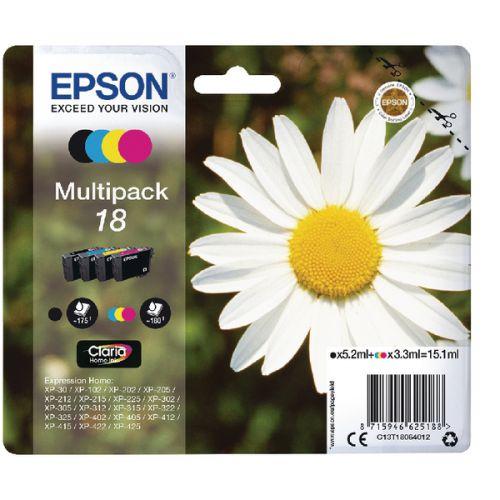 Epson C13T18064012 18 Black Colour Ink 5ml 3x3ml Multipack