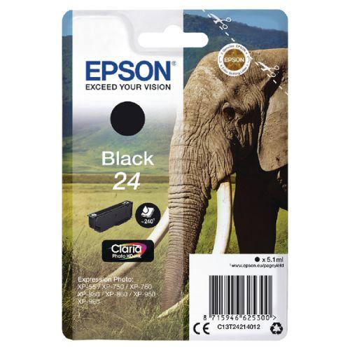 Epson C13T24214012 24 Black Ink 5ml
