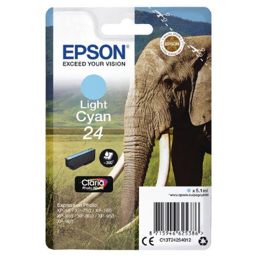 Epson C13T24254012 24 Light Cyan Ink 5ml