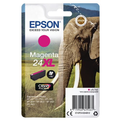 Epson C13T24334012 24XL Magenta Ink 9ml