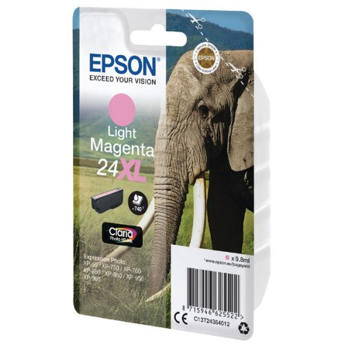 Epson C13T24364012 24XL Light Magenta Ink 10ml