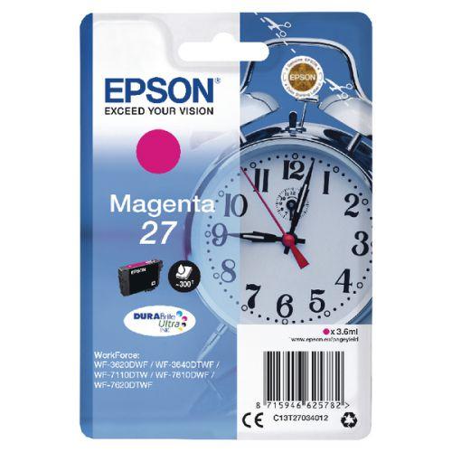 Epson C13T27034012 27 Magenta Ink 4ml