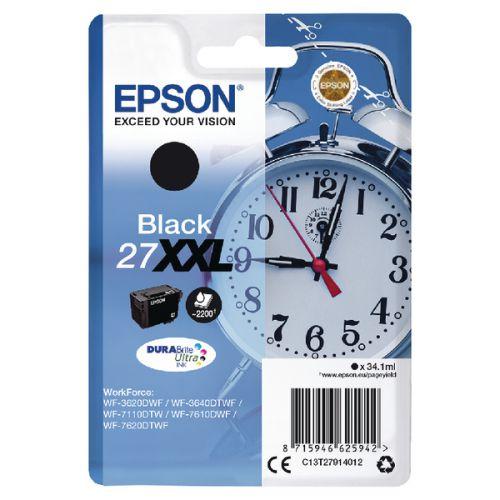 Epson C13T27914012 27XXL Black Ink 34ml