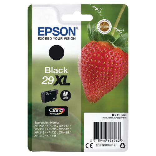 Epson C13T29914012 29XL Black Ink 11ml
