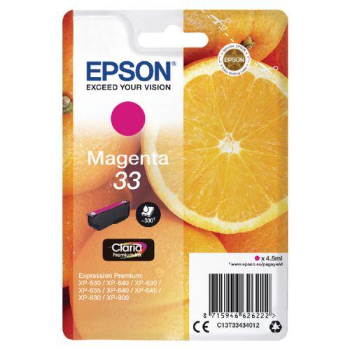 Epson C13T33434012 33 Magenta Ink 4.5ml
