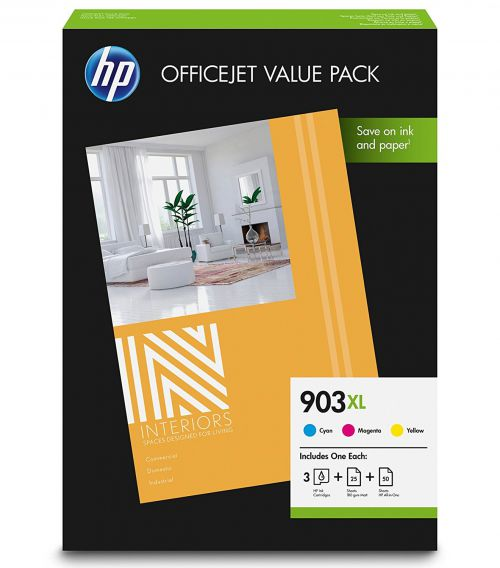 HP 1CC20AE 903XL Office Value Pack Ink and Paper 3x 10ml