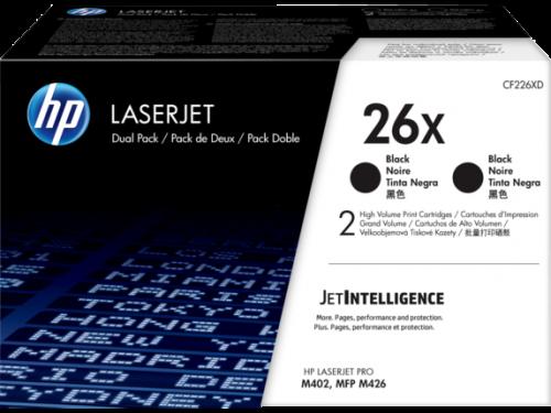 HP 26X Black High Yield Toner Cartridge 9K pages Twinpack for HP LaserJet Pro M402/M426 - CF226XD