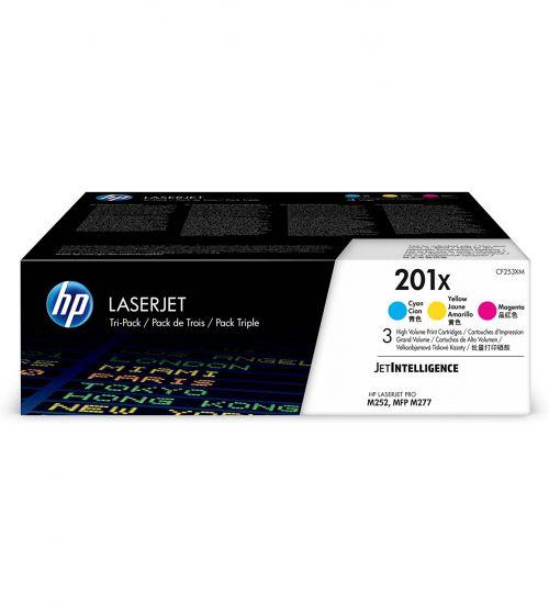 HP 201X Multipack High Yield Toner Cartridge 3x 2.3K pages for HP Color LaserJet Pro M252/M274/M277 - CF253XM