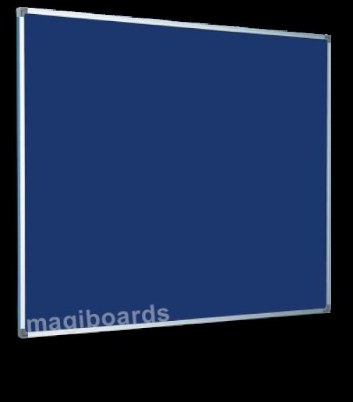 Magiboards Slim Frame Felt Noticeboard Blue 1500x1200mm
