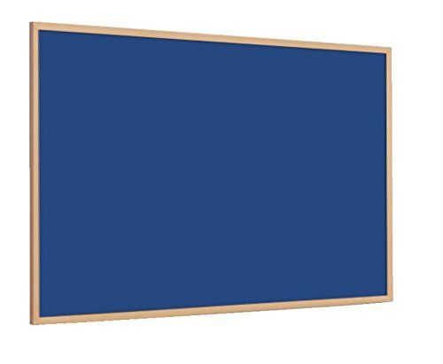 Magiboards Slim Wood Frame Felt Noticbrd Blue 1500x1200mm