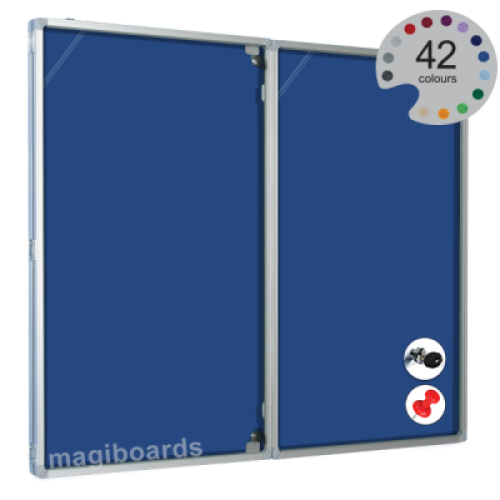 Magiboards Felt Nticbrd Lockable door Portrait  600x900mm